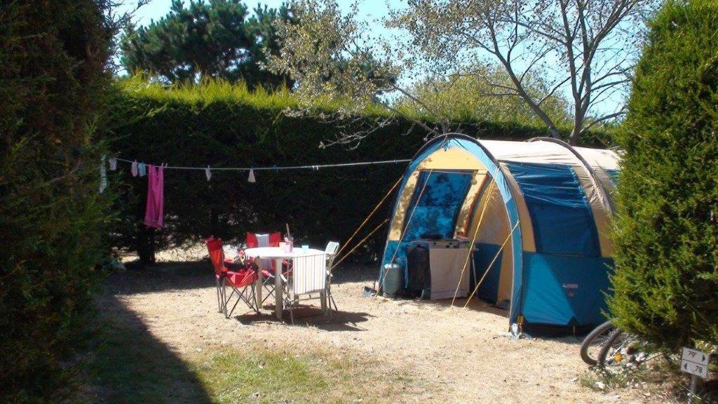 emplacement tente soleil camping Noirmoutier