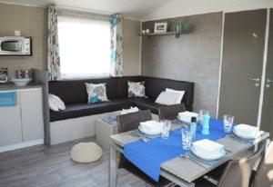 cuisine du mobil home camping Noirmoutier