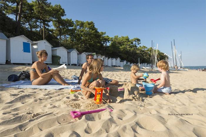 accès direct à la plage camping à Noirmoutier